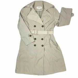 Calvin Klein Bonded Double Breasted Trenchcoat